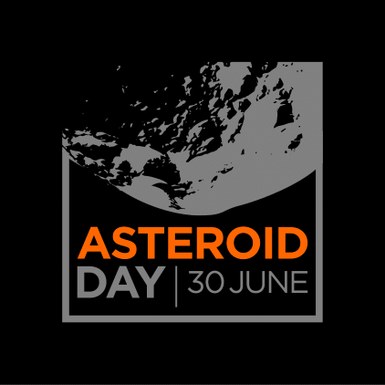 Asteroid Day Square Large Black Logo